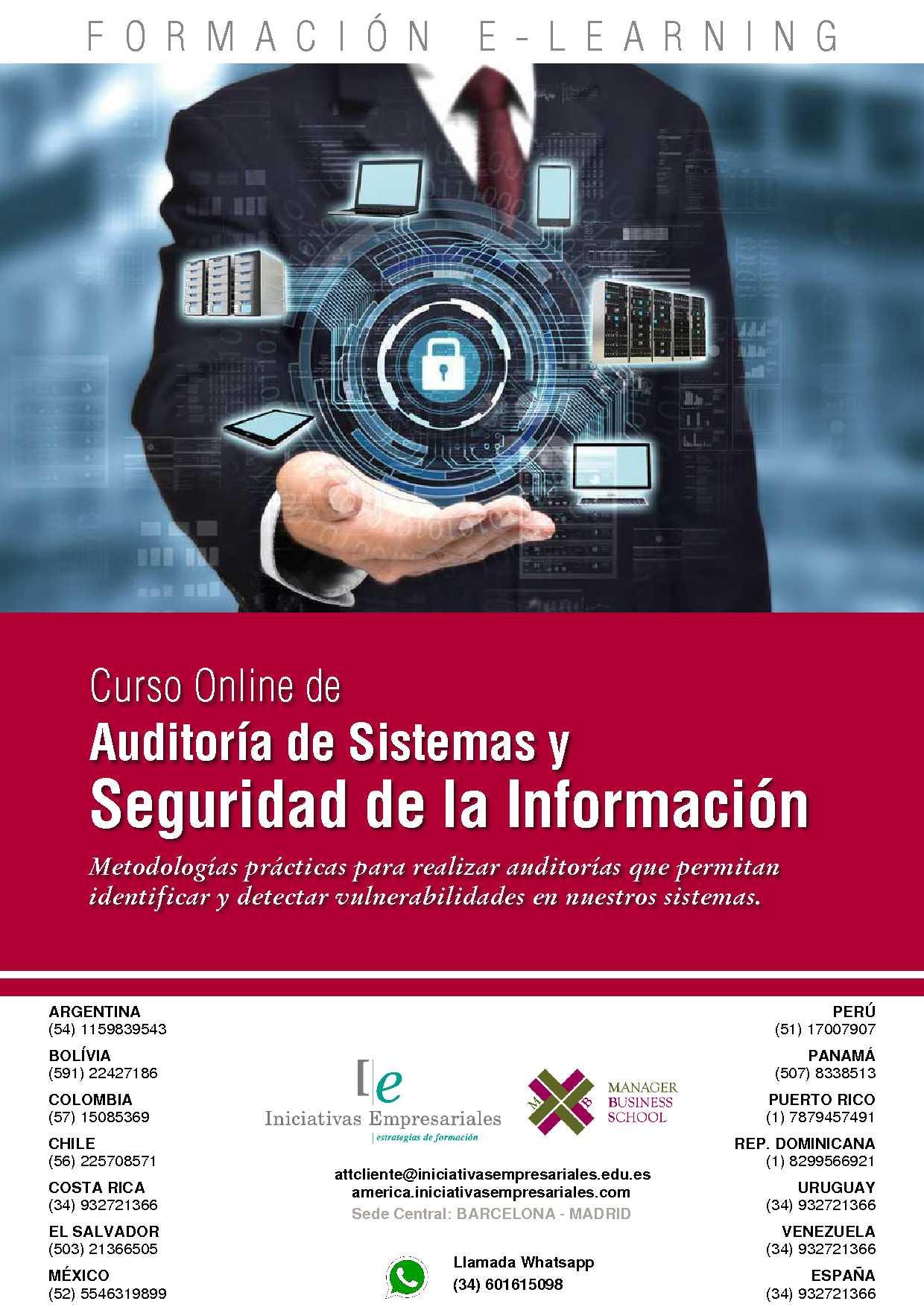 Curso Auditoría De Sistemas Y Seguridad De La Información